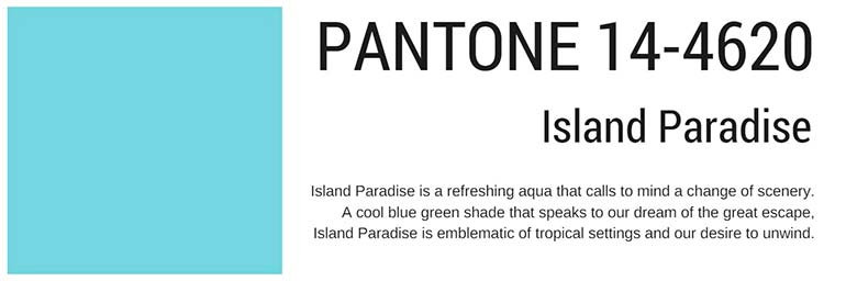 pantone colors spring 2017 island paradise