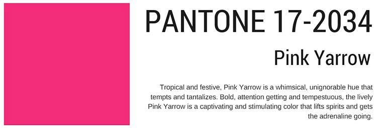 pantone colors spring 2017 pink yarrow