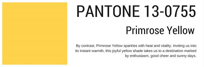 pantone colors spring 2017 primerose yellow