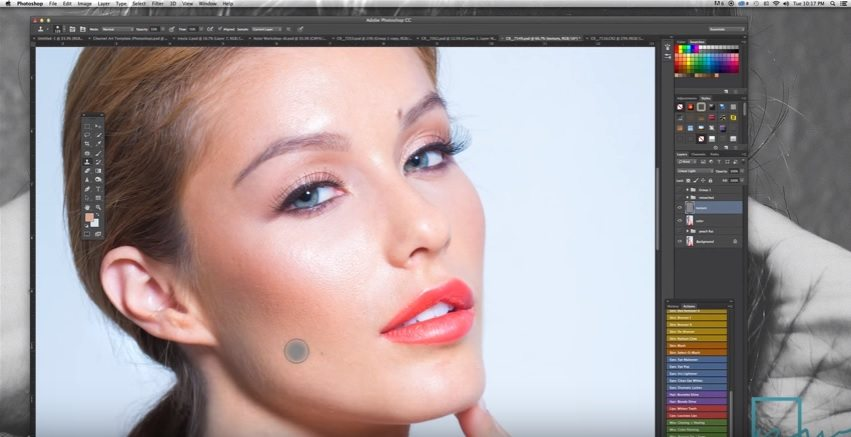 photoshop tutorials for photographers skin retouching