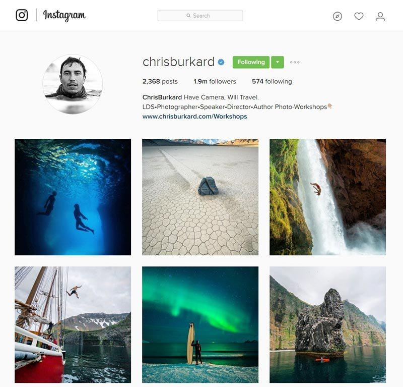 chrisburkard inspiring instagram accounts for photographers