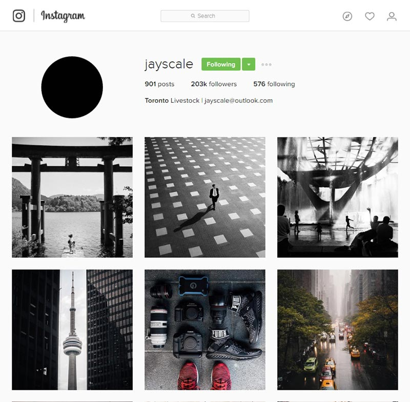 jayscale inspiring instagram accounts for photographers