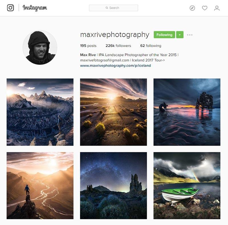 max rive inspiring instagram accounts for photographers