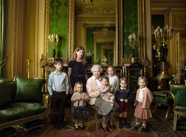 a year in pictures april 21 2016 queen elizabeth ii with grandchildren and great grandchildren
