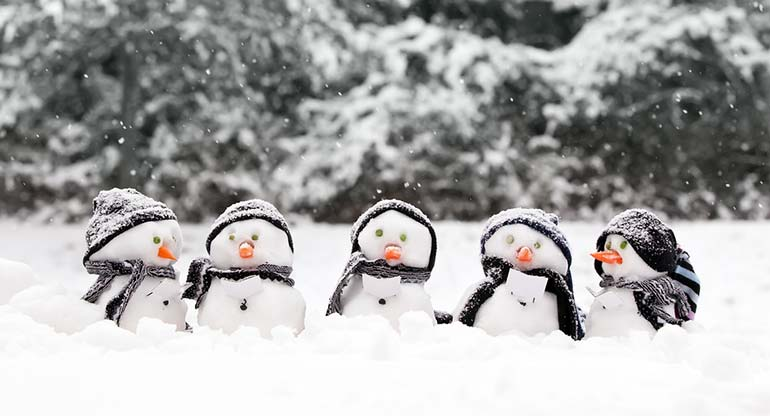 snowmen christmas stock photography