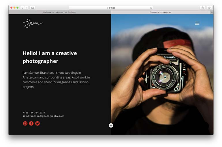 how to design a website for photographers