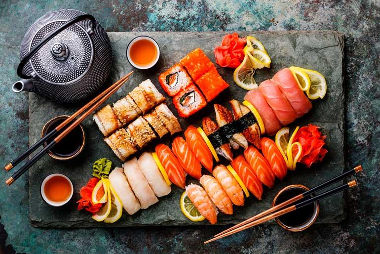 sushi food photography