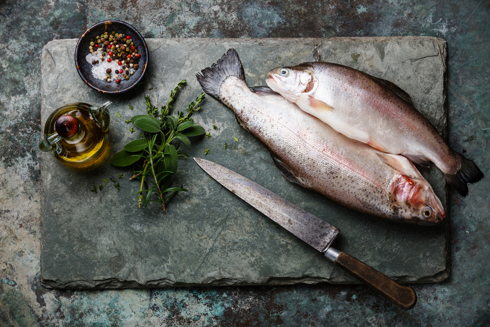Raw uncooked Trout