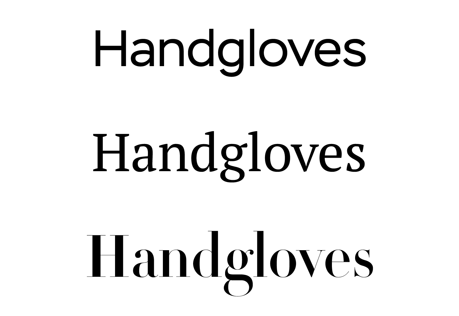 types of font guide