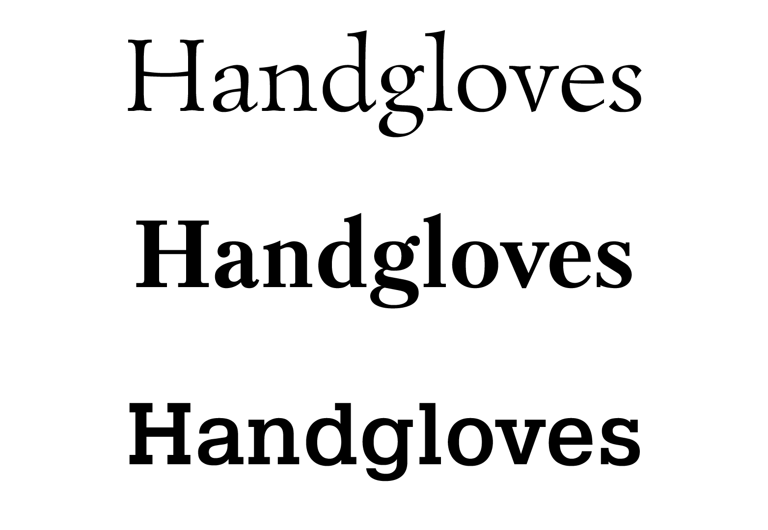font types and styles