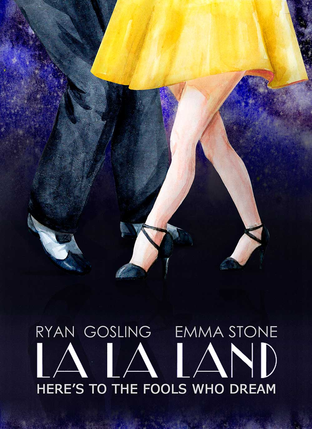 alternative movie posters Anastasia-Lembrik-La-la-land poster