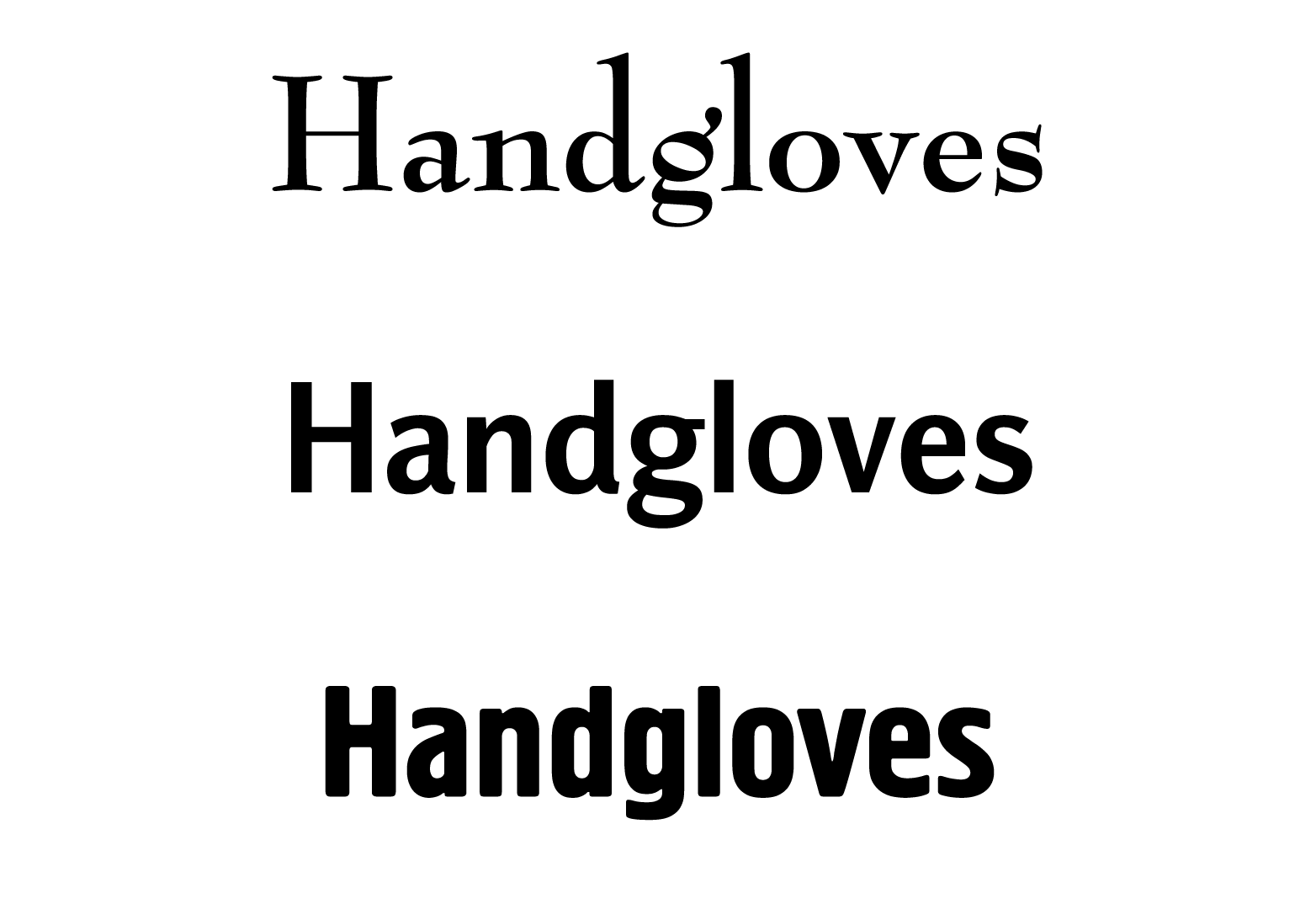 types of font and font characteristics