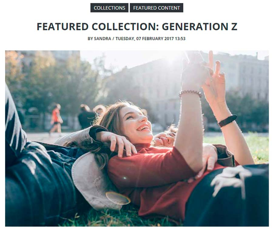 featured collections visual content