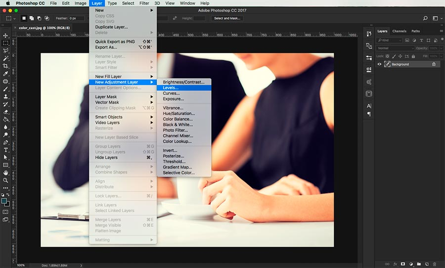 how to remove a color cast in photoshop 2