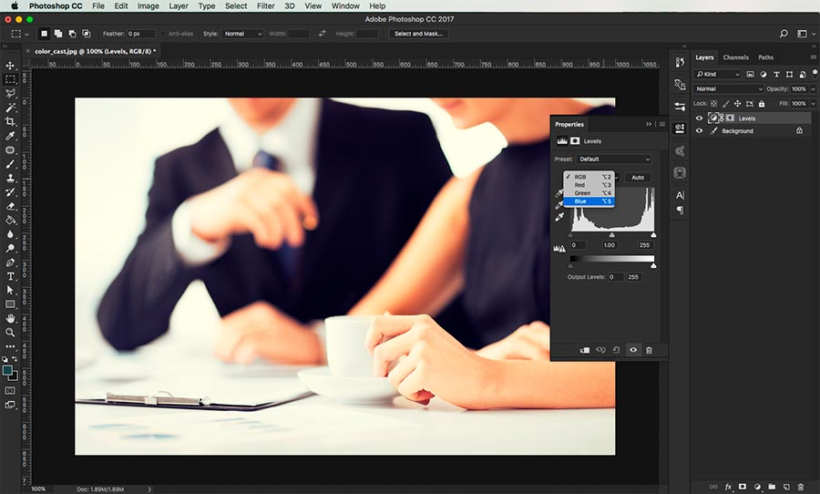 how to remove a color cast in photoshop 4