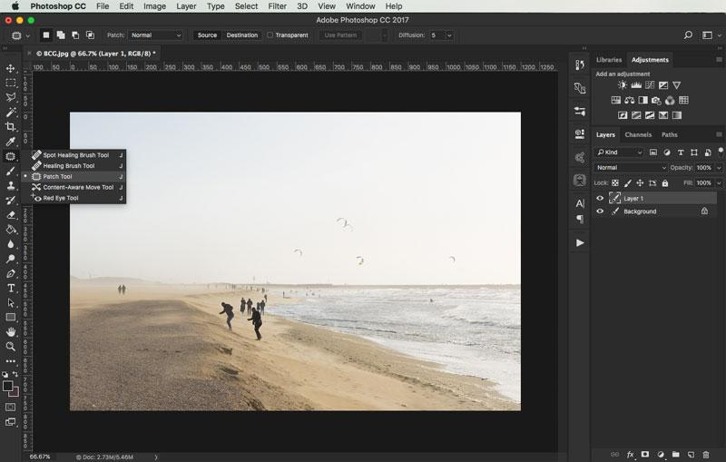 removing objects from images in photoshop 2