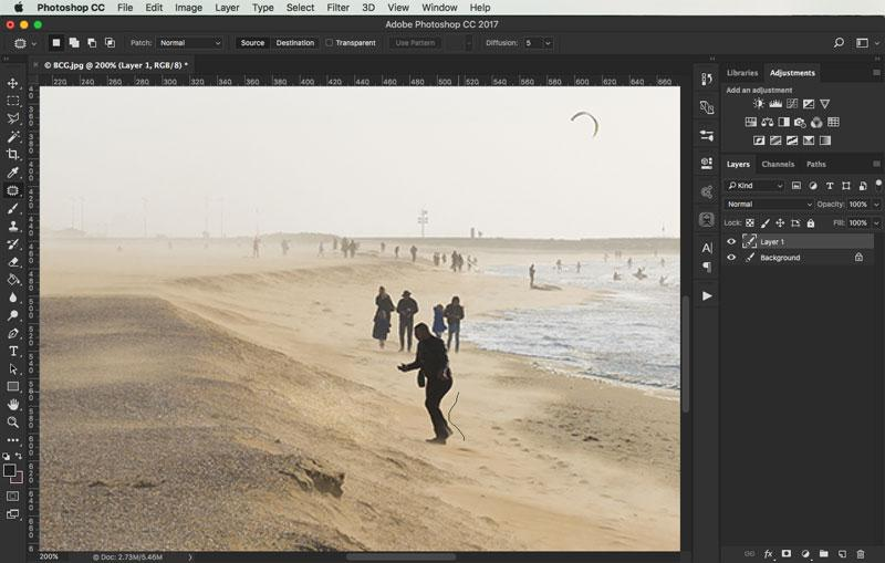 removing objects from images in photoshop 3