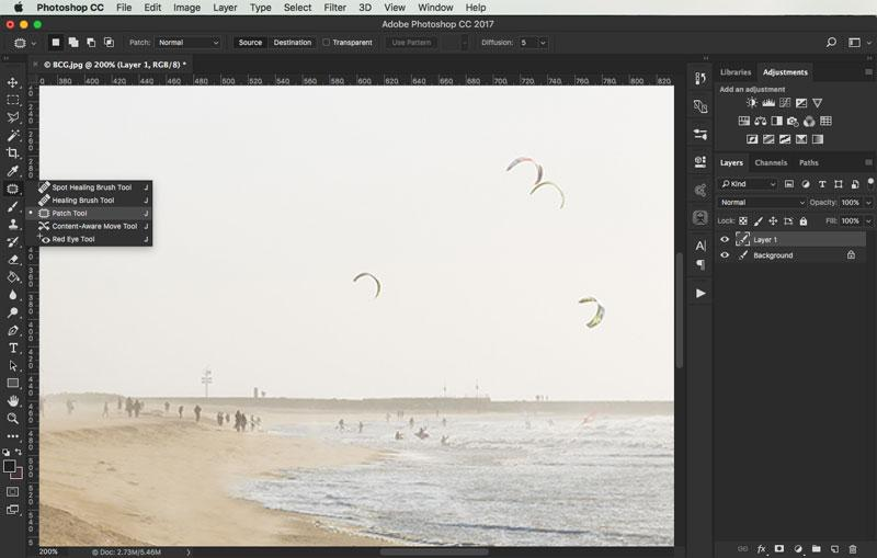 removing objects from images in photoshop 7