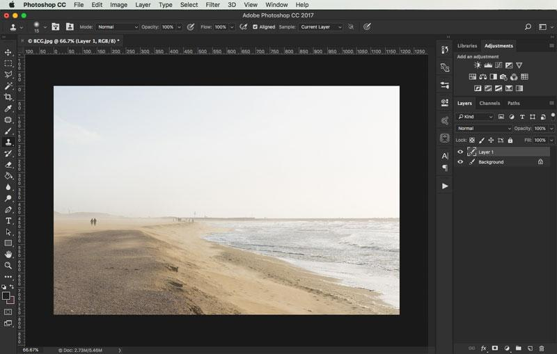 removing objects from images in photoshop 9