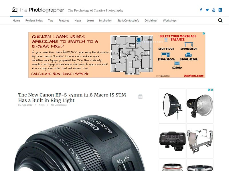 websites and blogs for inspiration art design photography thephoblographer