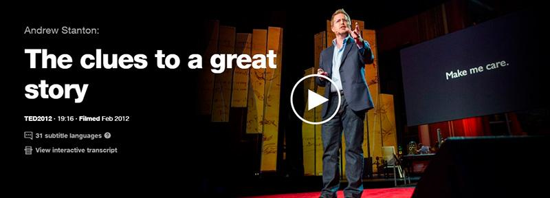 The Clues to A Great Story by Andrew Stanton