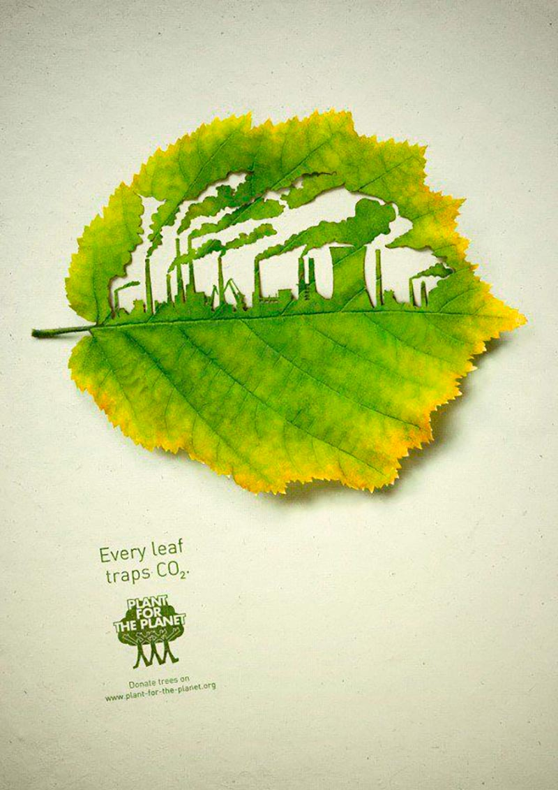 creative advertising green planet