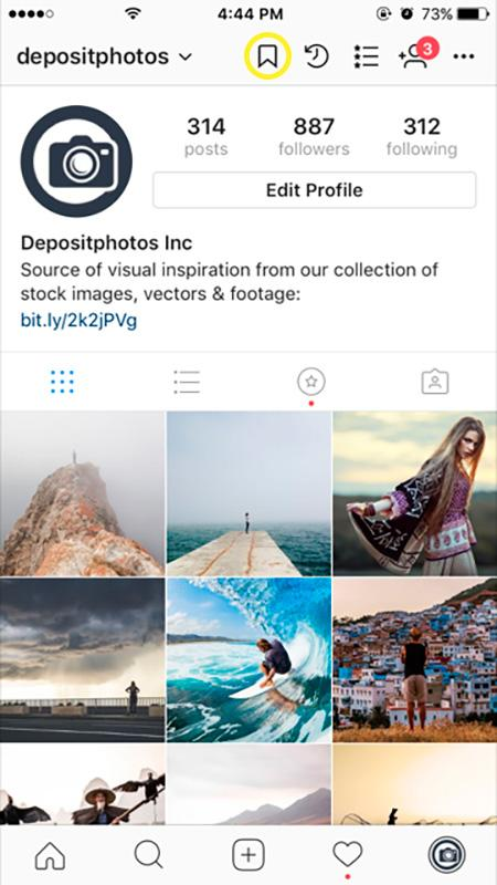 how to add images to bookmarks instagram