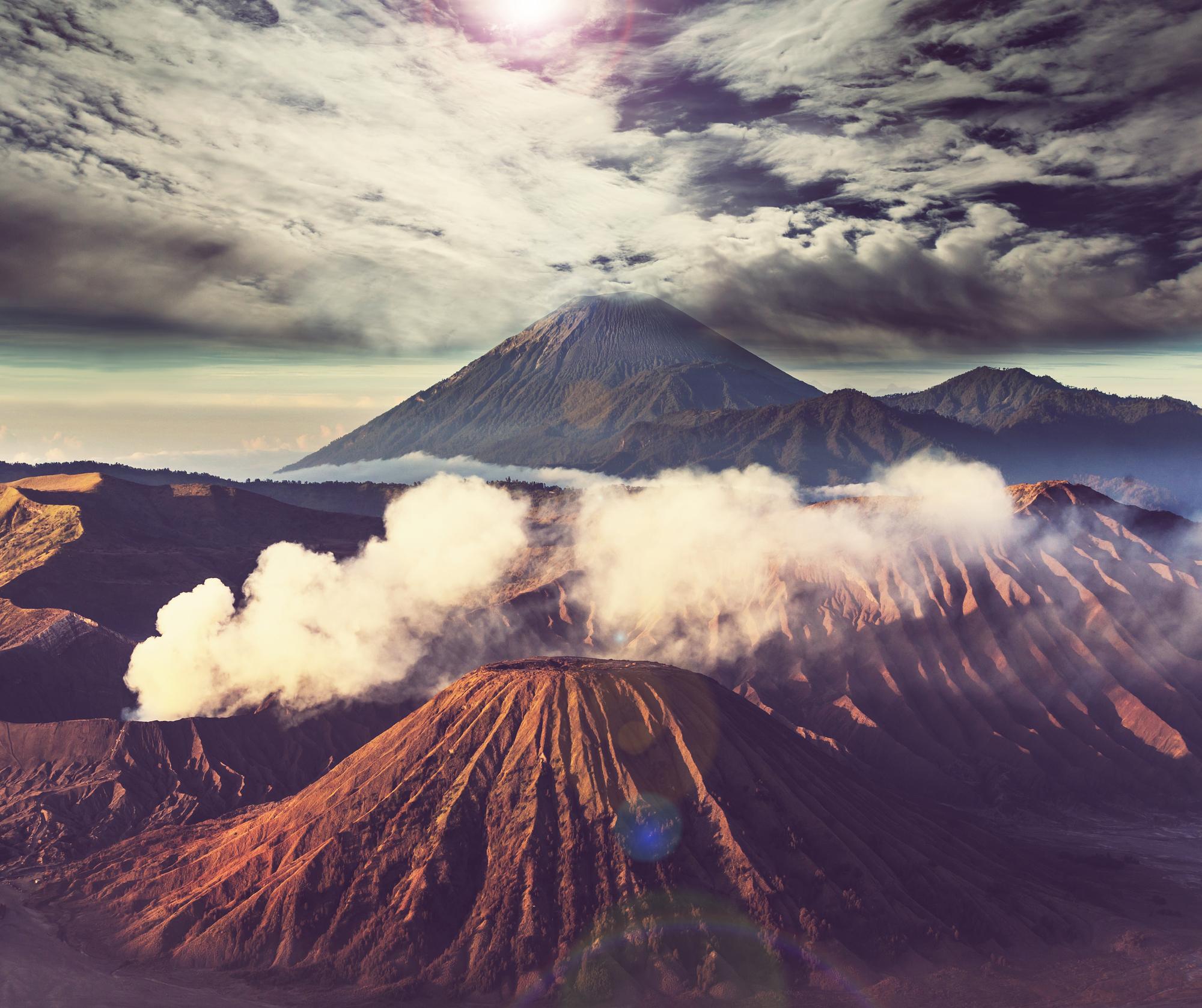 Bromo Volcano at Java, Indonesia stock image