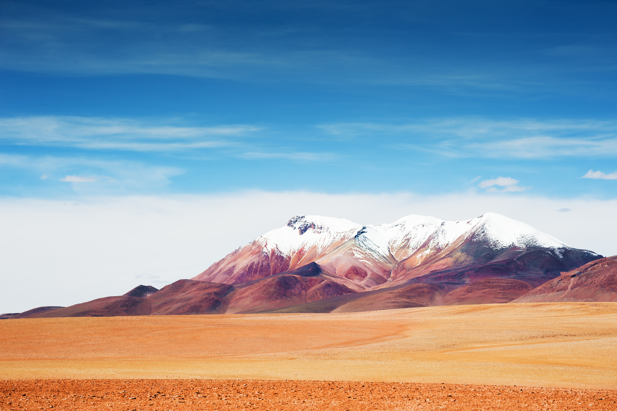 stock image Desert and mountains on the plateau Altiplano, Bolivia