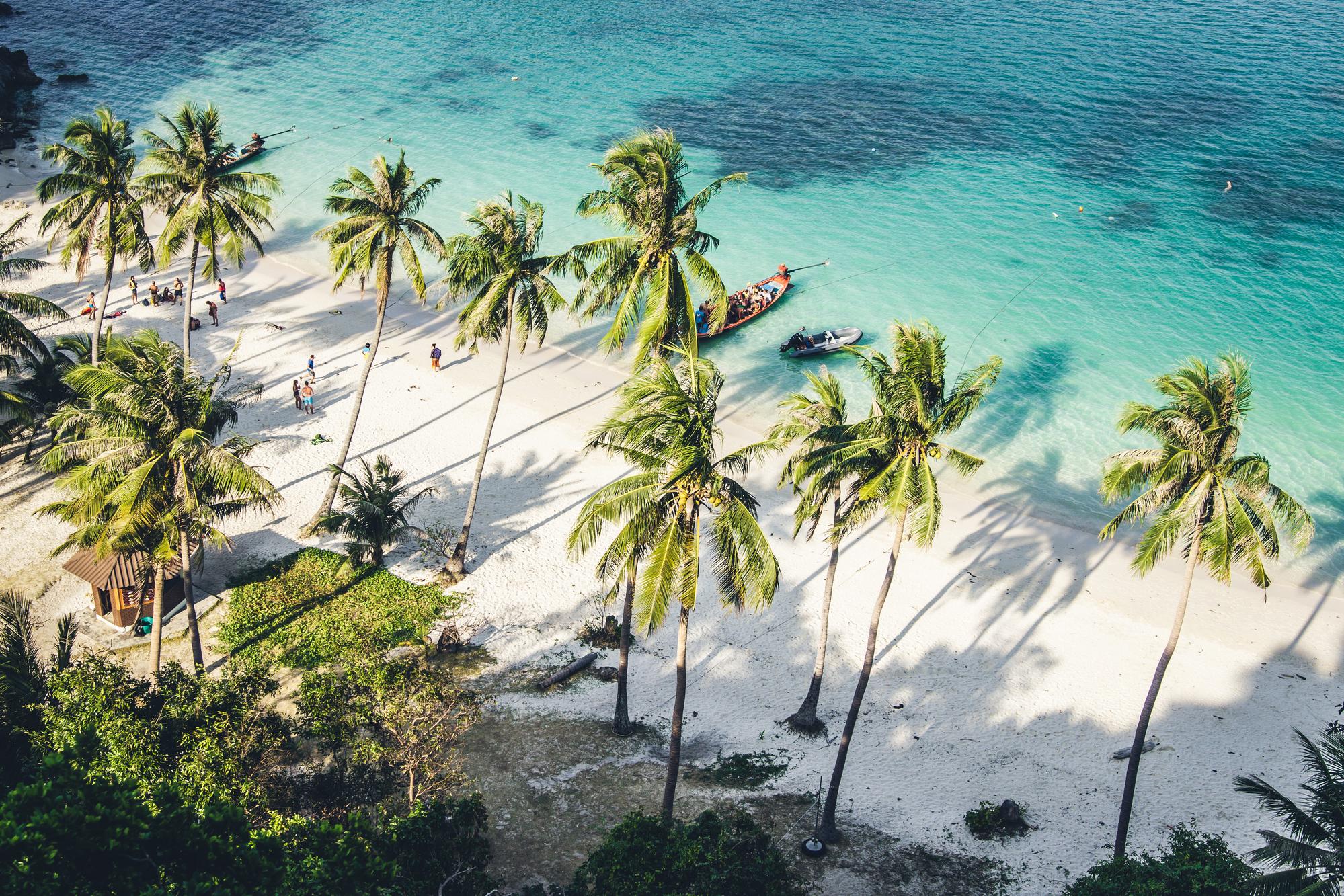 Beautiful beach in Thailand stock photo