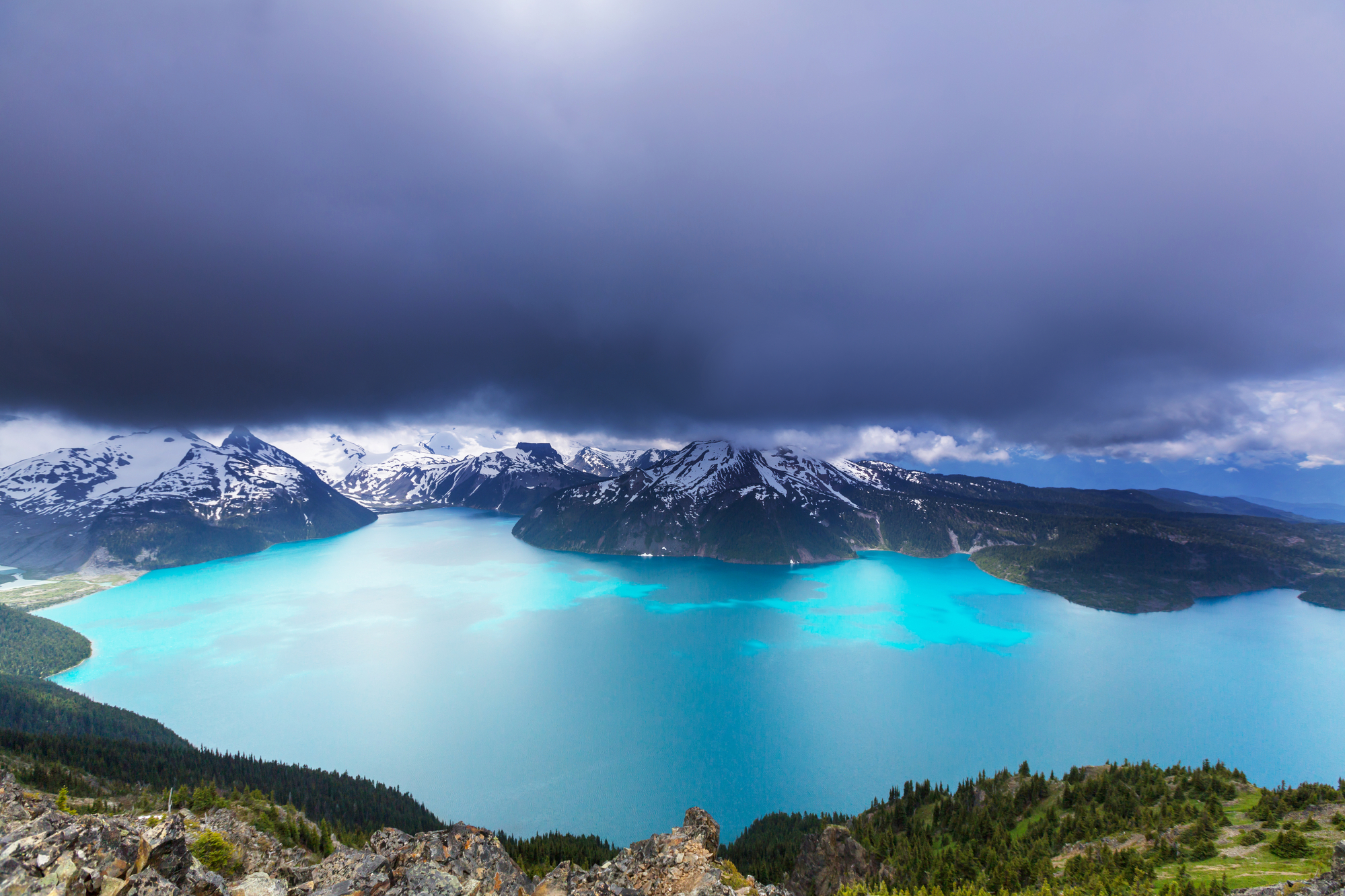 Hike on Garibaldi Lake stock image