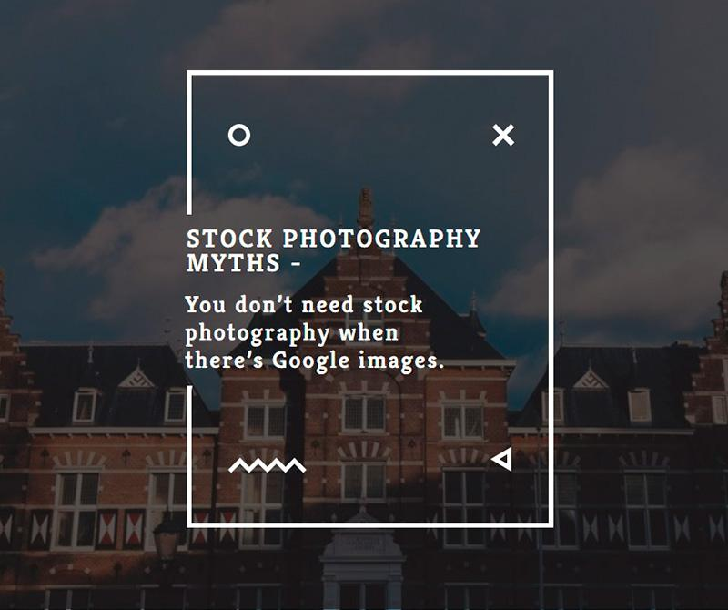 Stock photography myths 1