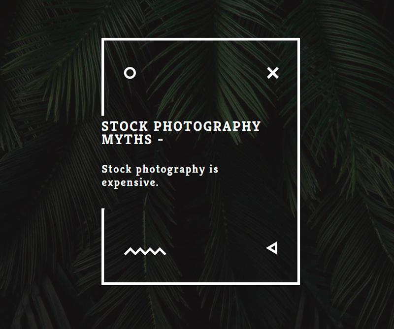 Stock photography myths 4