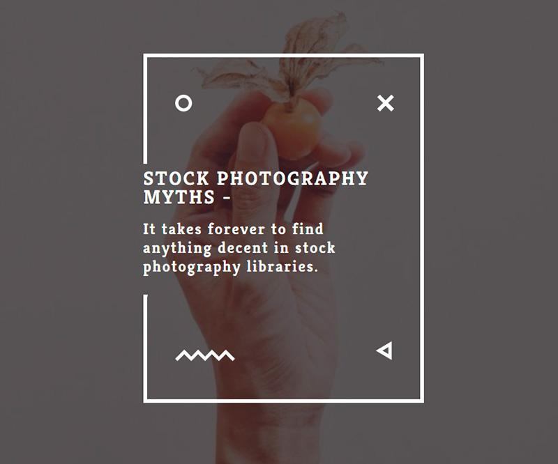 Stock photography myths 6