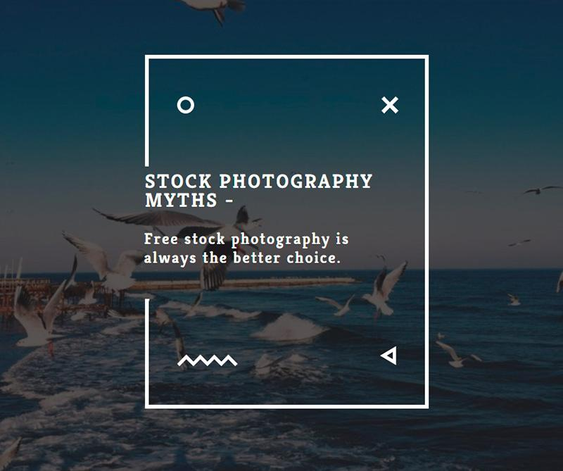Stock photography myths 9