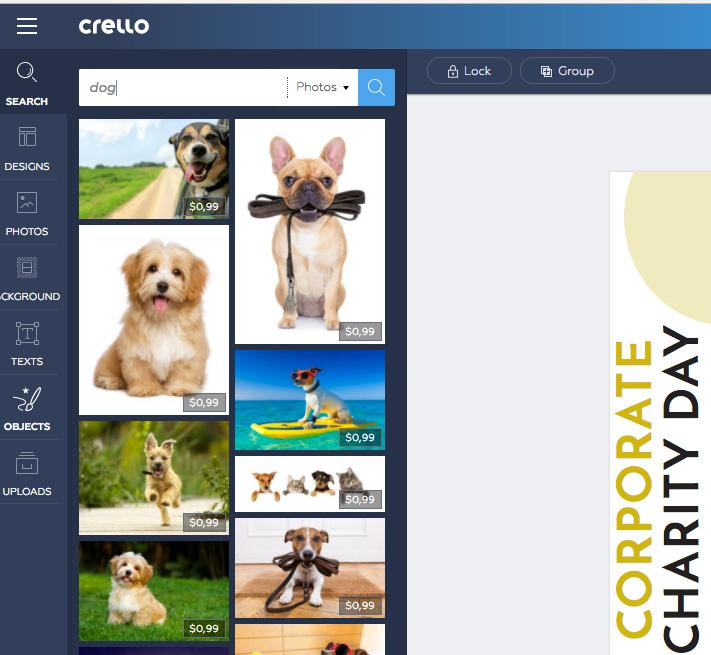 best online tools to edit photos Crello 3