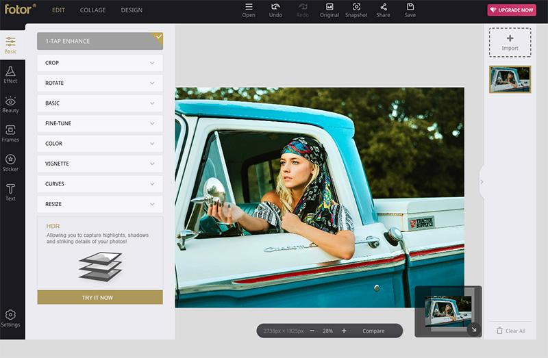 best online tools to edit photos fotor editor