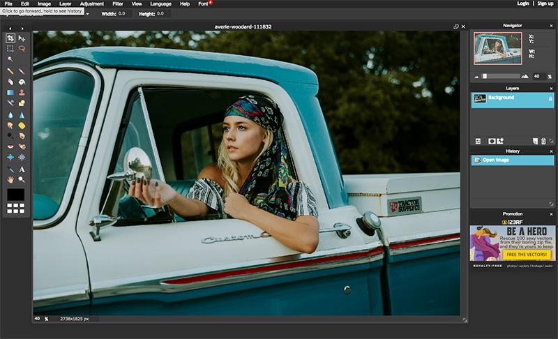 best online tools to edit photos pixlr editor