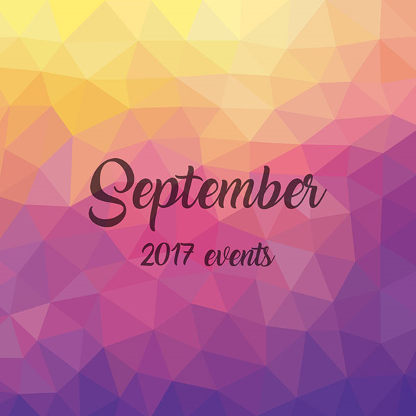 We're Back With New Events for September!
