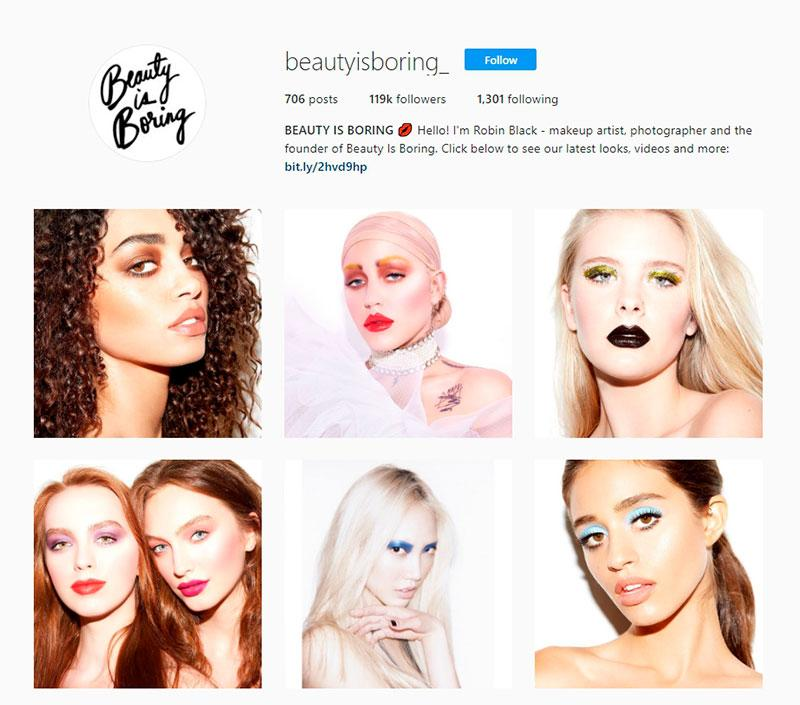 popular beauty instagrams