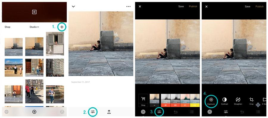 step 1 vsco tutorial how to fix photos