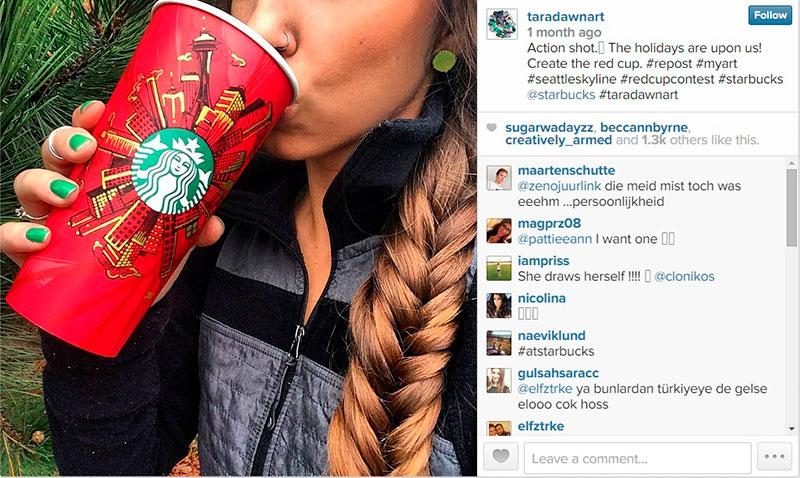Instagram red cup contest