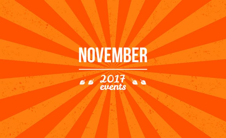 From Canada to UK: November 2017 Events