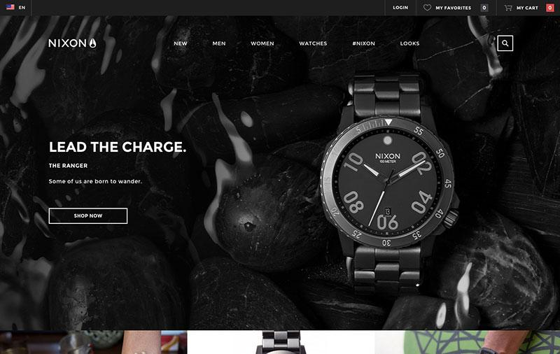 nixon-watches best of website design