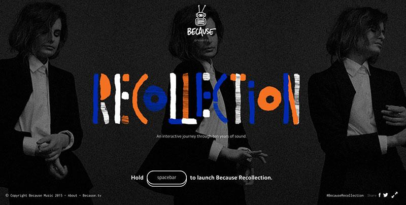 recollection-site best of website design