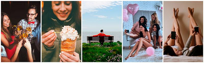 anti valentine's day collection of images stock photography