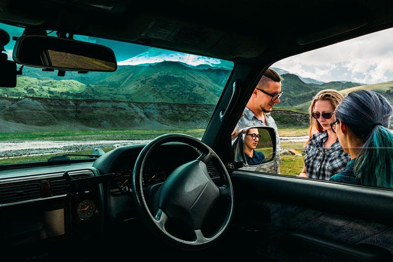 3 friends traveling by car image from Sergey Tinyakov's portfolio