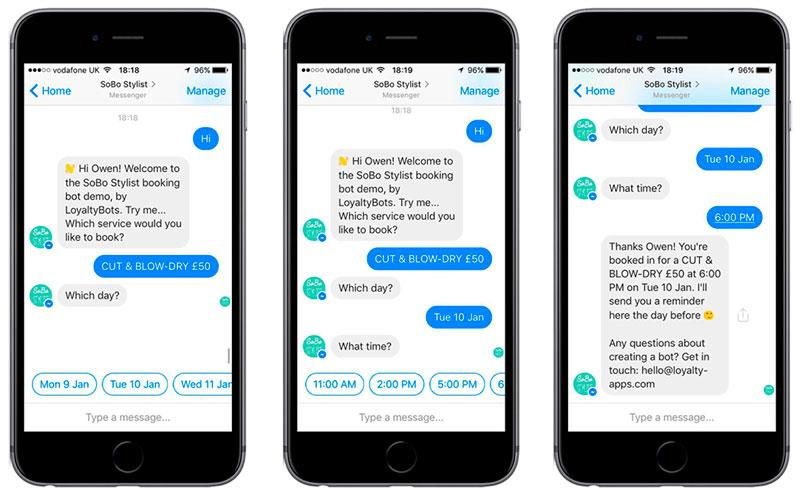 social media marketing trends for business - chatbots