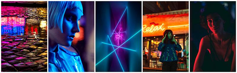 neon lights collection stock photography depositphotos