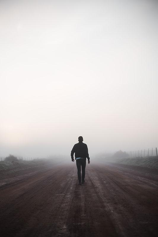 Justin Govender photography man walking into fog